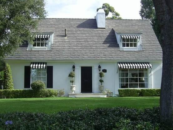 classic black front door