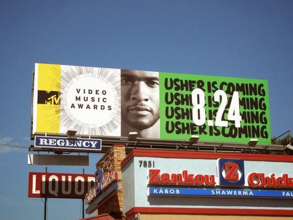 Usher is coming MTV Music Video Awards billboard
