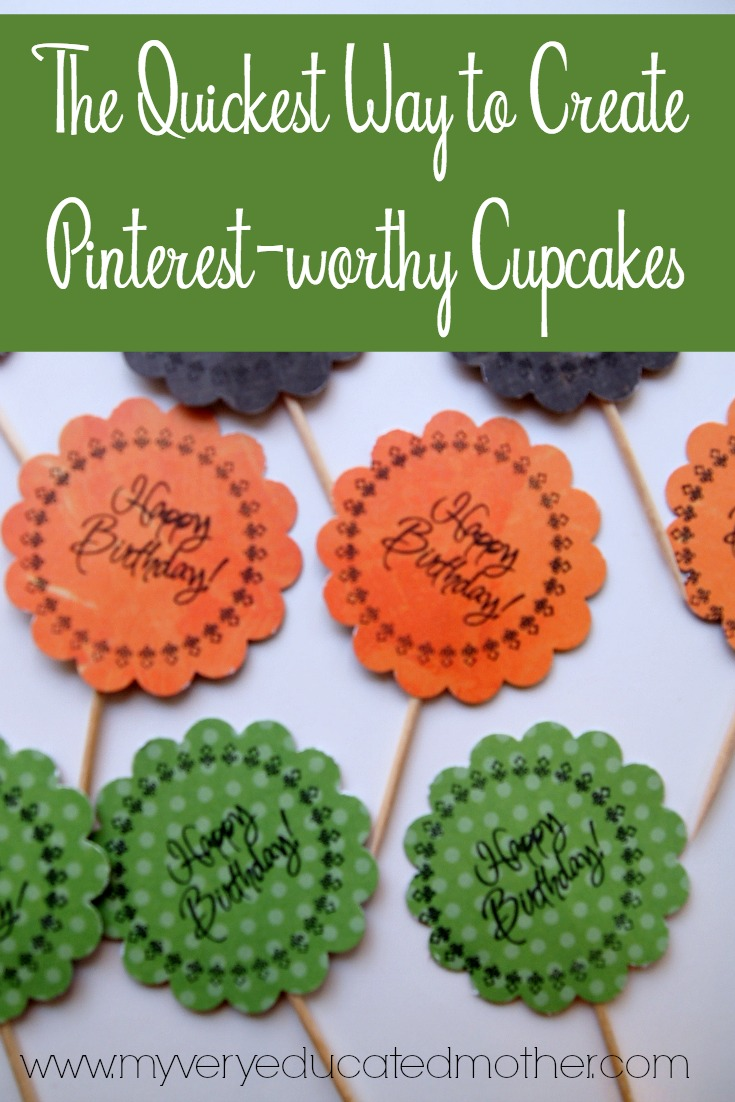 The quickest way to create Pinterest worthy Cupcakes? You'll have to read the post!