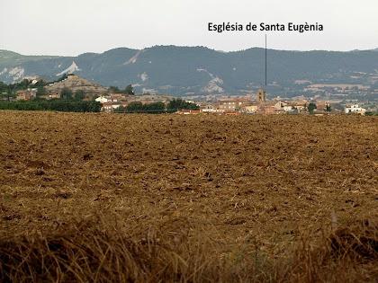 Vistes de Santa Eugènia de Berga des del nou cementiri
