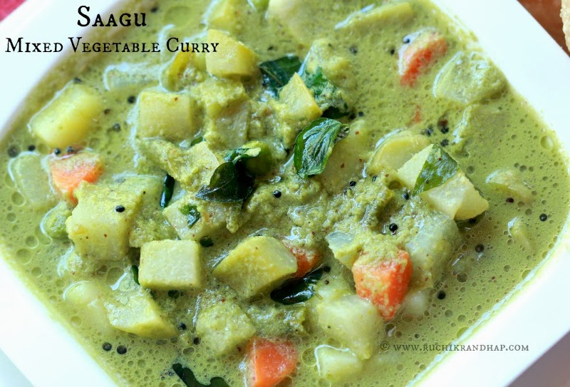 Poori saagu karnataka style mixed vegetable curry with wholewheat to top it my favourite herb coriander leaves are added to the ground masala so not only does it lend a lovely pista colour to the dish but the flavour is forumfinder Gallery