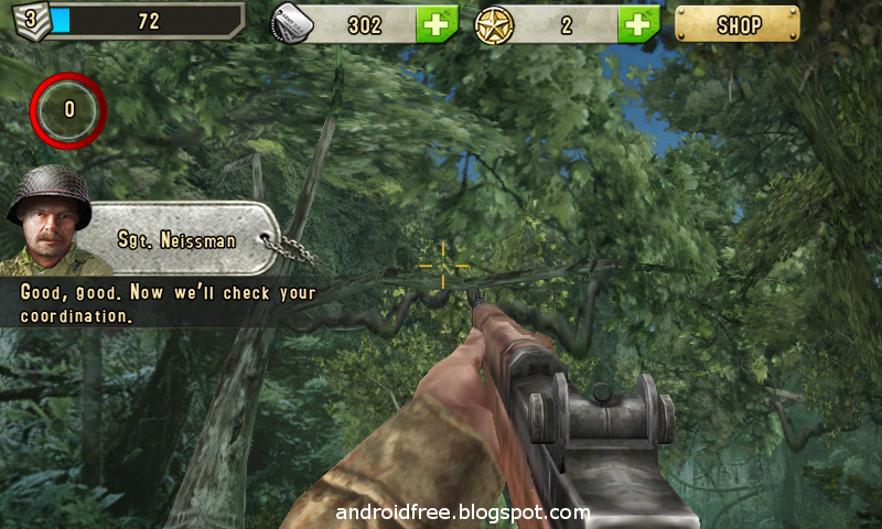 brothers in arms 2 android game ingame pic