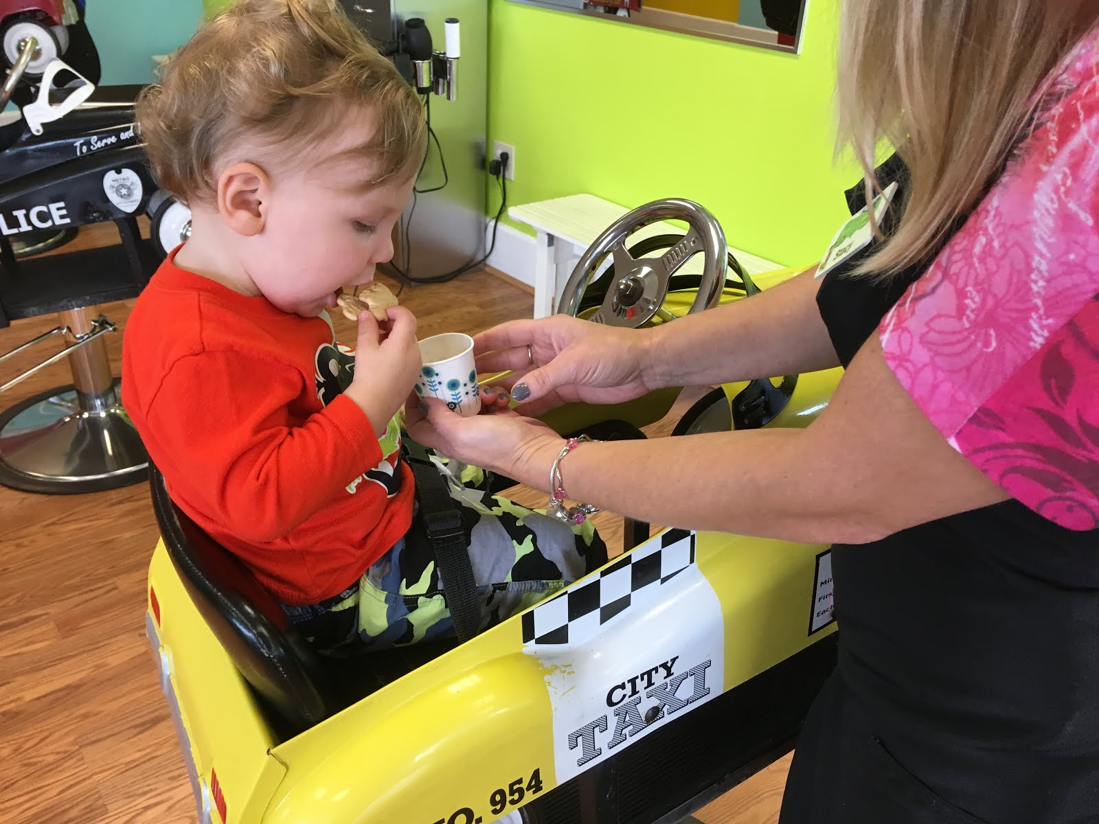 Toddlin Around Tidewater First Haircut At Pigtails And Crewcuts
