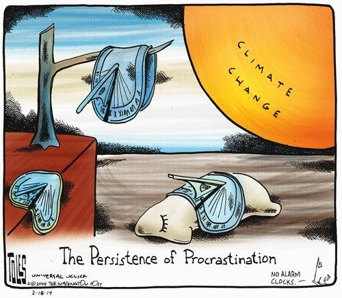 Toon of the Week: The Persistence of Procrastination (Credit: www.skepticalscience.com) Click to enlarge.