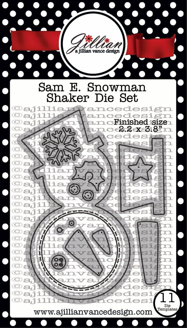 Sam E. Snowman Shaker Die Set