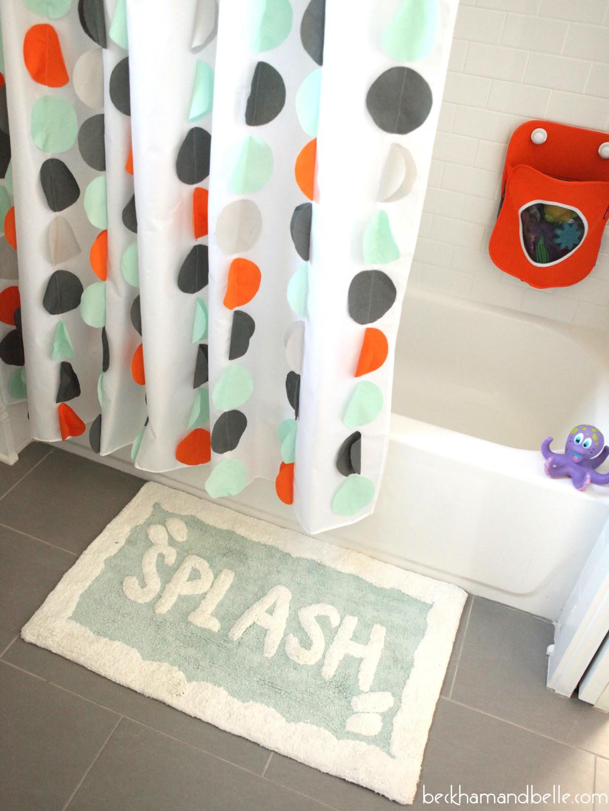Kids Bathroom Reveal - Mint, Orange and Grey