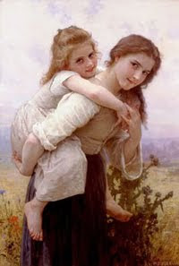 Fardeau Agreable By William Bouguereau
