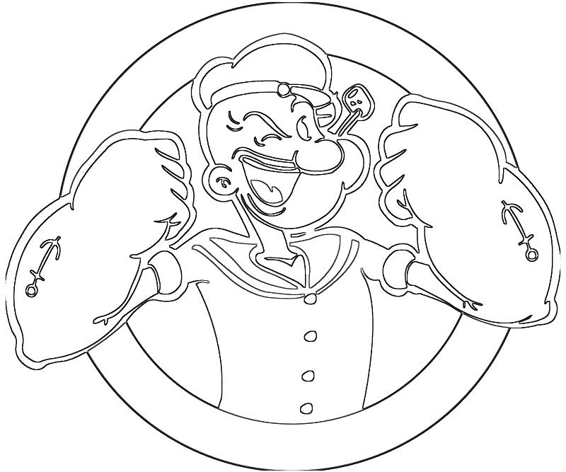 Popeye popeye power supertweet for Popeye coloring pages