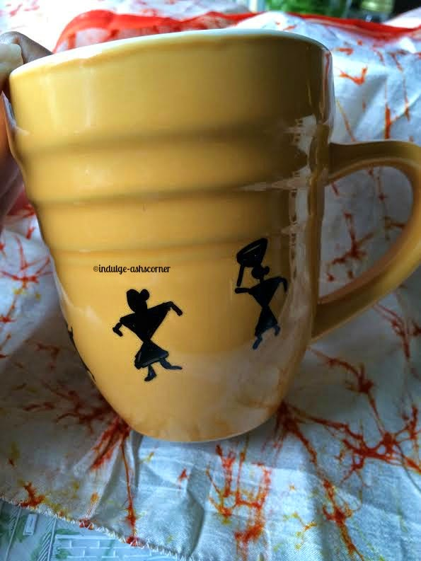 Warli Art- DIY Sharpie Mugs