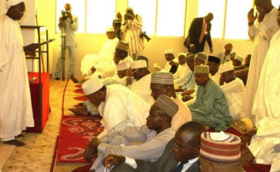 President Buhari Attends First Jumaat Service In Aso Rock