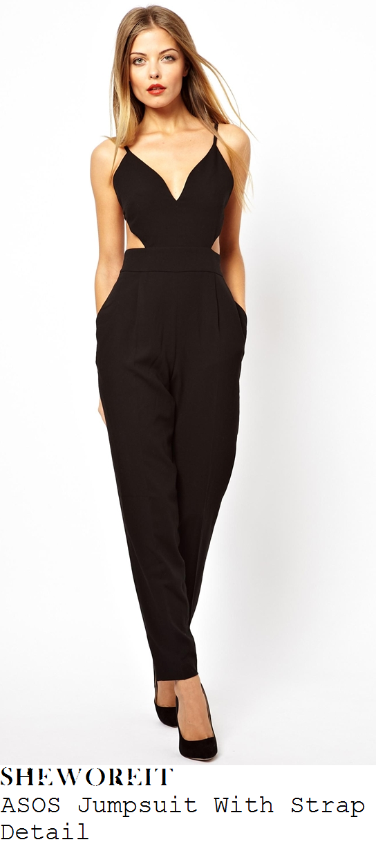 kimberley-walsh-black-plunge-front-cut-out-detail-jumpsuit-the-late-late-show