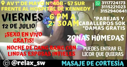 VIERNES  DE 6 PM A 2:30 AM GANG BANG CON HERMOSAS CHICAS SW