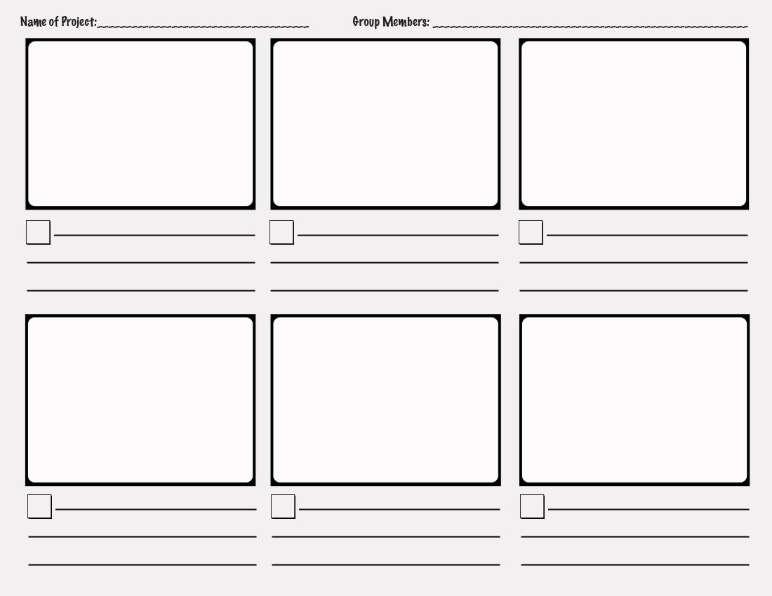 Sizzling image with printable storyboard