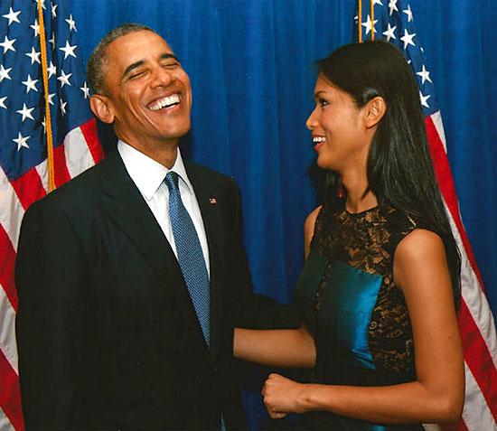 Geena Rocero w/ President Barak Obama