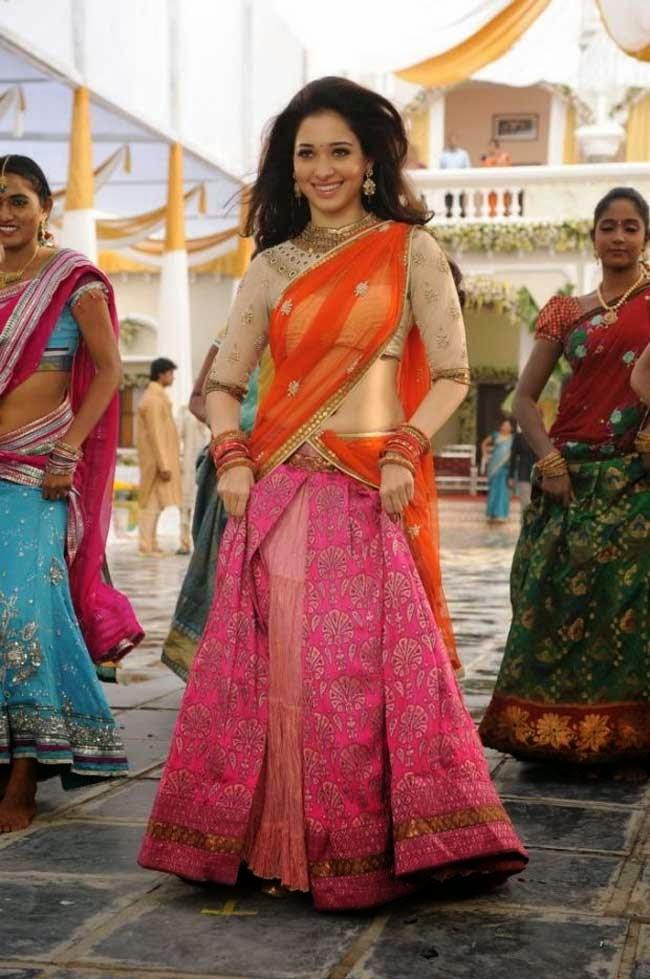 Tamanna bhatia in Designer Half Saree
