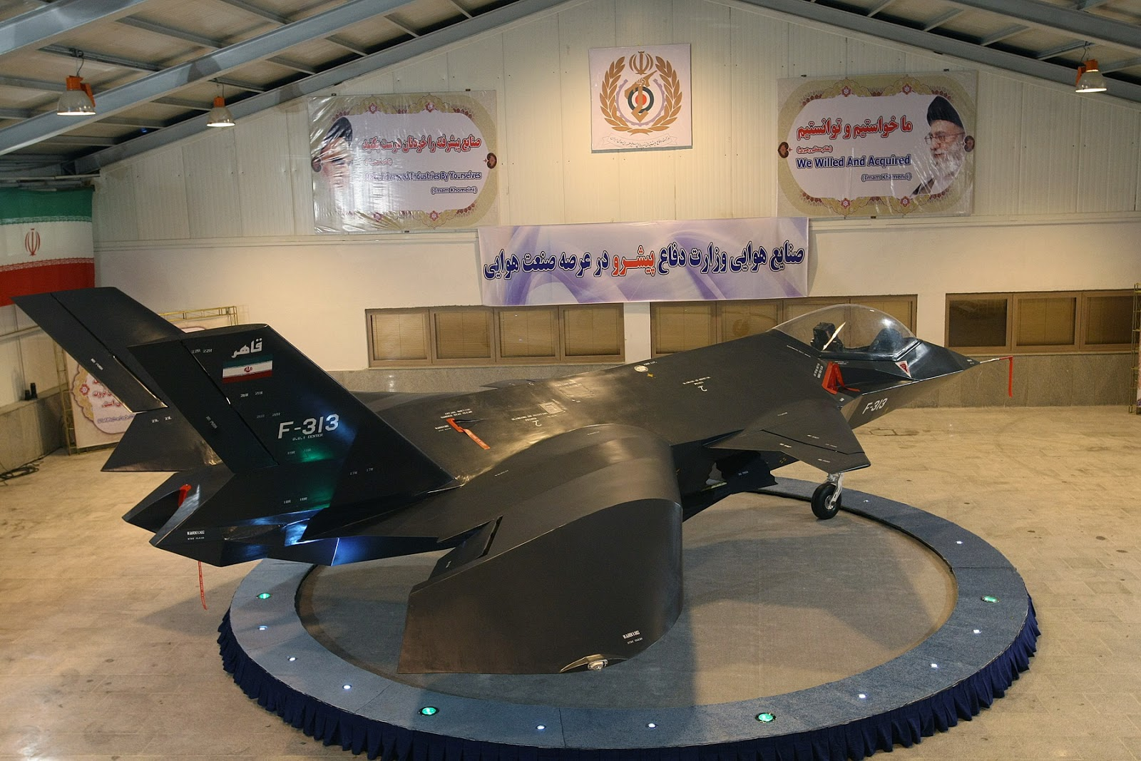 Iranian Qaher F-313 Stealth Fighter Jet Prototype/Mock up ...
