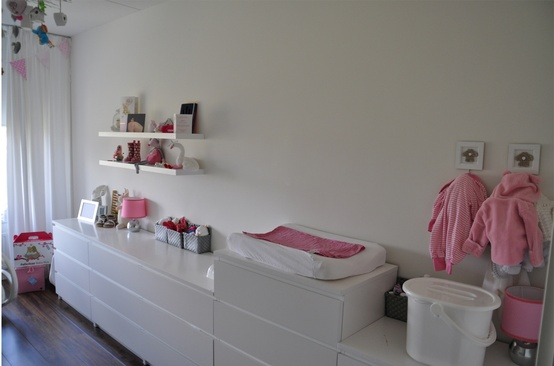 ... Lifestyle for Kids: Inspiratie..... Babykamer in wit, roze en fuchsia