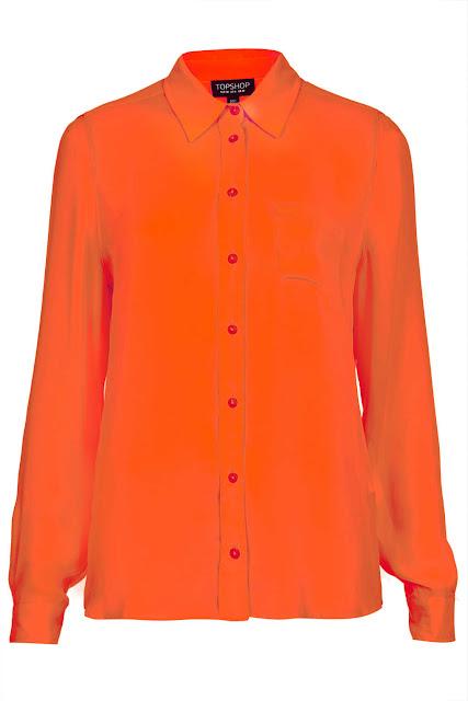 fluro orange shirt