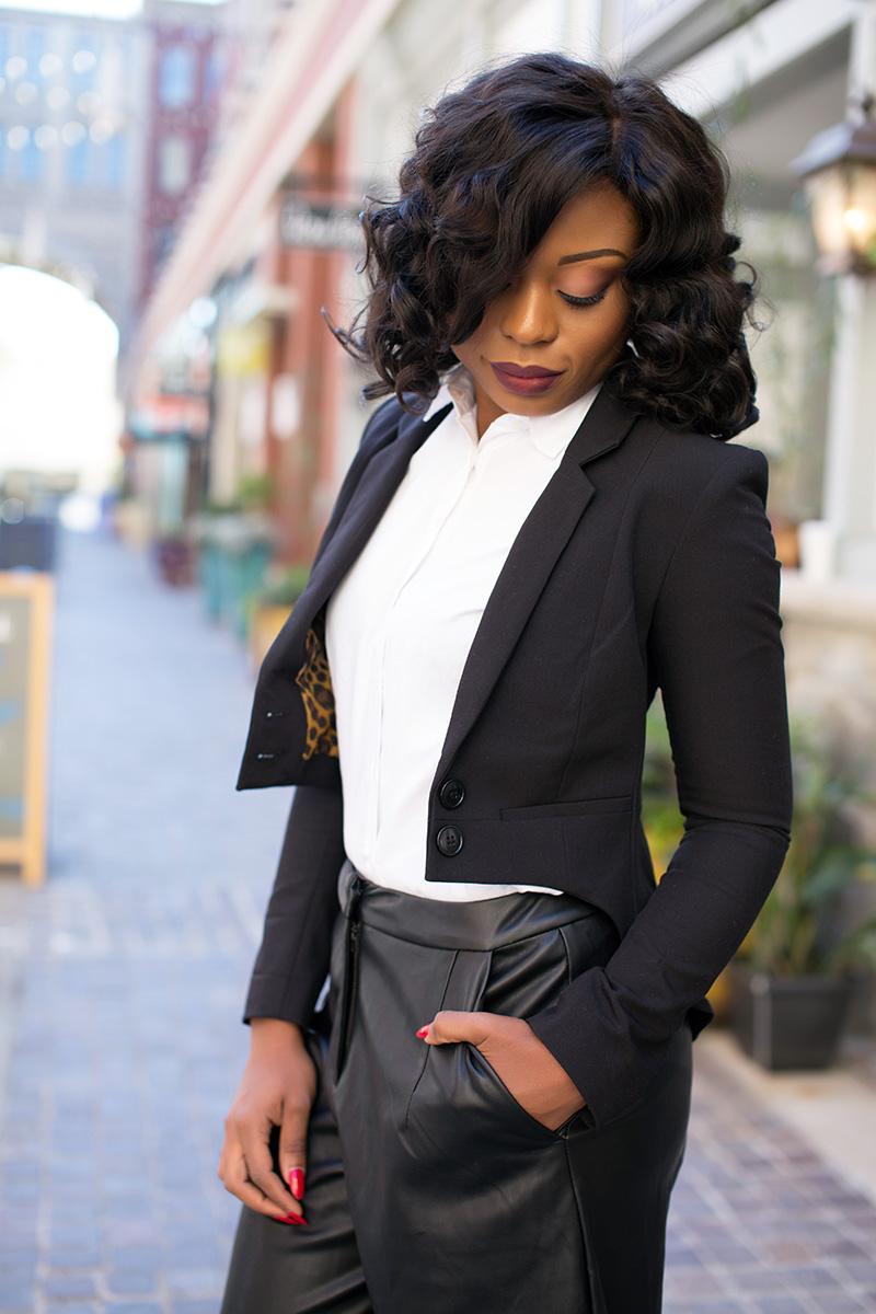 culottes, holiday style, tuxedo blazer, www.jadore-fashion.com