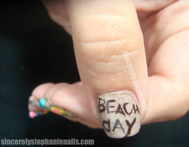 Beach Day Nail Art