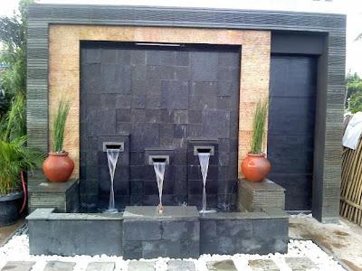kolam minimalis | air mancur | kolam ko'i | desain taman