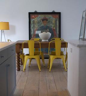 Koradecora comedores mesas y sillas for Sillas comedor amarillas