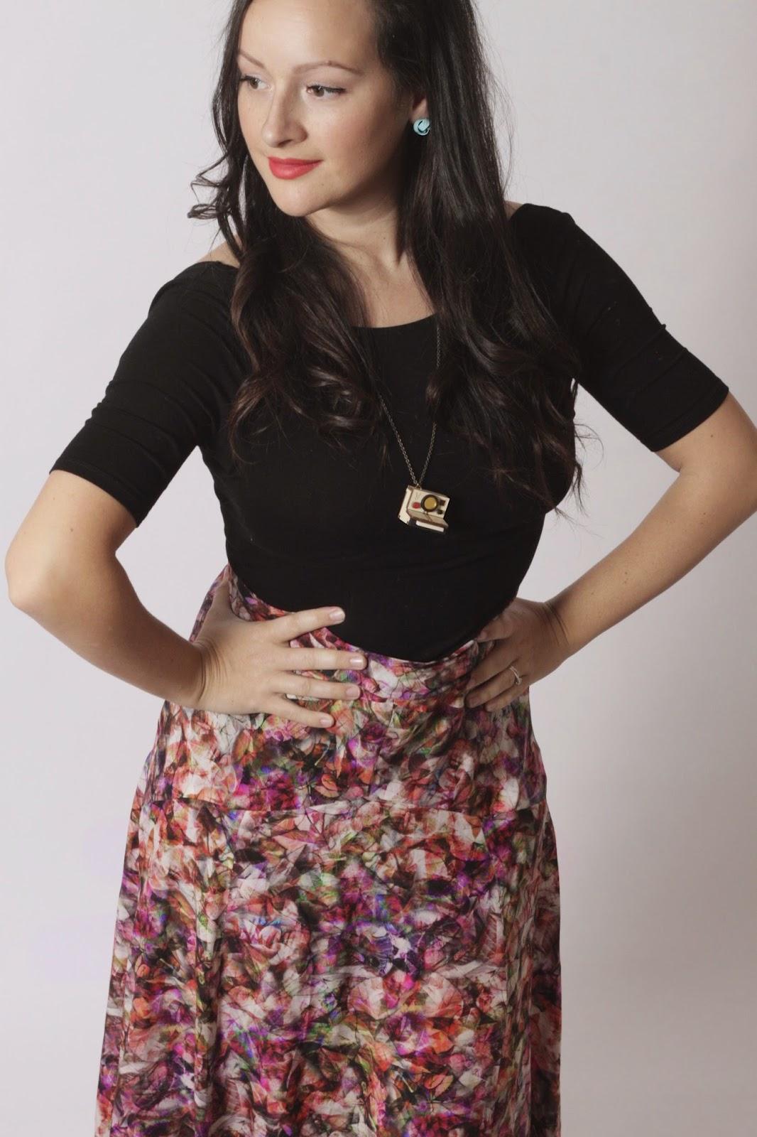 Julia Bobbin - The Gabriola Maxi Skirt by Sewaholic Patterns