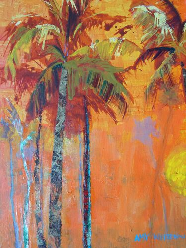 Amy whitehouse paintings favorite palms 16 x20 acrylic for Painting palm trees