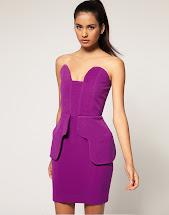 Structured Peplum Dress