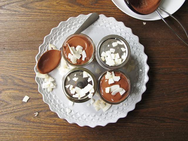 Chocolate Coconut Tofu Mousse