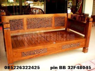 bale sofa minimalis ukiran jati jepara