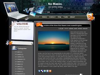 No Masks Blogger Template