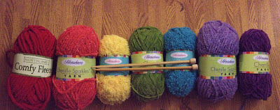 yarn, rainbow yarn, knitting, striped scarf, rainbow scarf, before