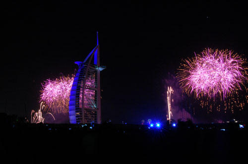 Photos: Burj Al Arab 2012 New Year's Eve Fireworks