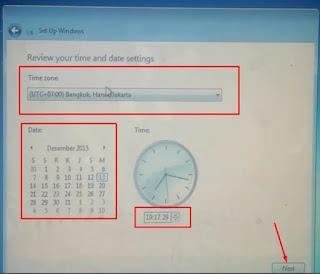 8. Sesuaikan tanggaldan waktu lalu klik next
