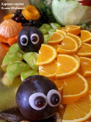 фигурки из фруктов для детей