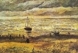 Na praia de Scheveningen -1882