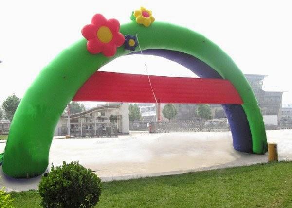balon gapura bunga