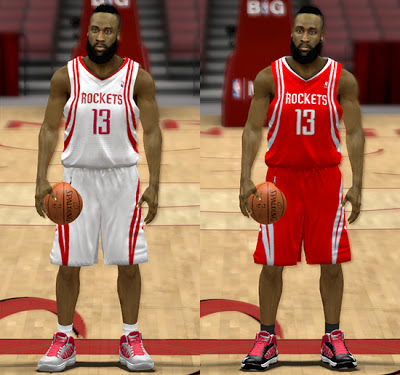 NBA 2K13 Houston Rockets Home & Away Jersey Patch