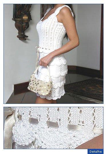 Связать белые ажурные платья крюком по схемам. белые ажурные платья.