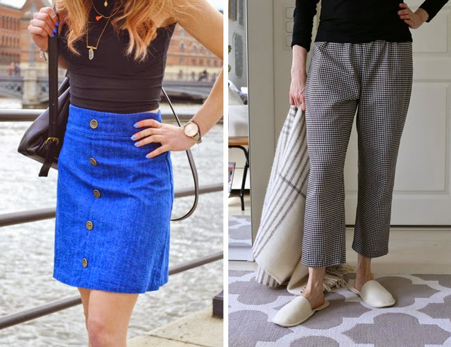 Delphine skirt and Margot PJs - patterns in Love at First Stitch