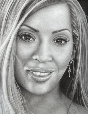 beautiful women drawing - rnb singer drawing