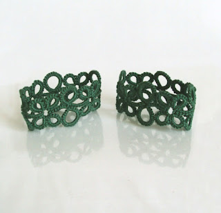 tatted lace napkin rings tatting