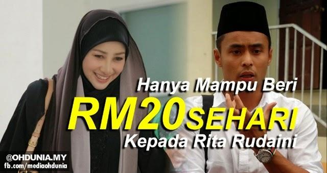 Aidil dikritik kerana hanya mampu beri RM20 sehari kepada Rita Rudaini
