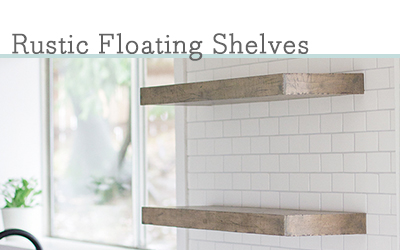 DIY rustic floating shelves