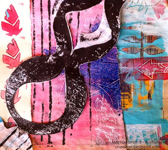 Martice Smith II; Day 19 of 31 (Printmaking Unleashed): Collage