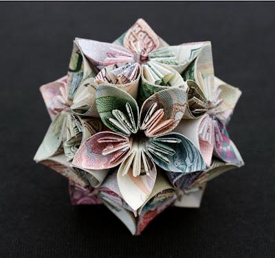 """Сложная фигура-оригами """"цветок"""""""