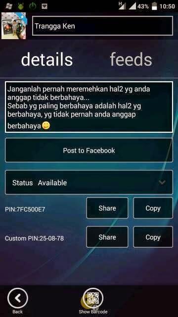 BBM Mod WP Transparent v2.7.0.23 Bisa Update Status Facebook