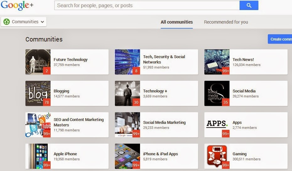 Top Tech Google Plus Communities