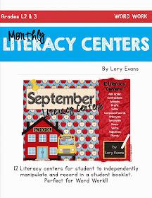 September Literacy Centers